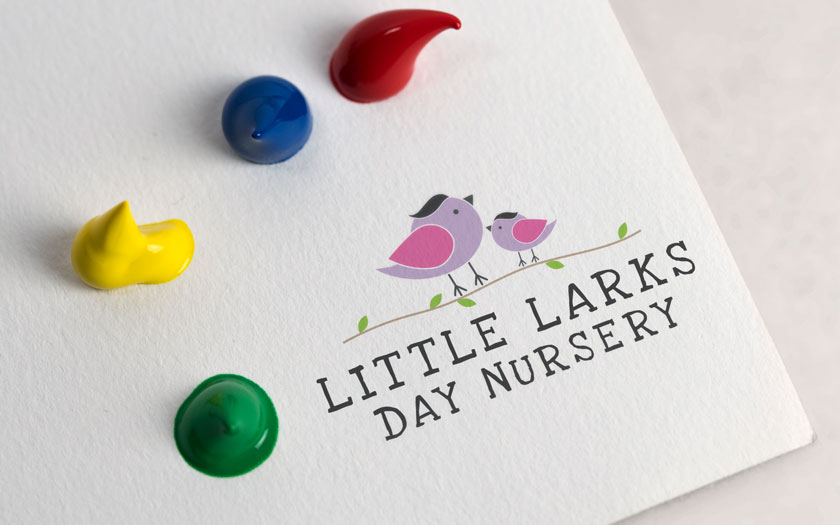 Little Larks Nursery, Logo Design, Sudbury, Suffolk