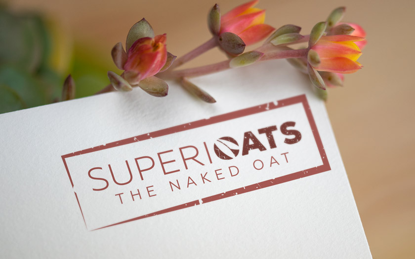 Superioats, The Naked Oats Logo Design, Sudbury, Suffolk