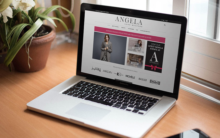 Web Design Sudbury, Suffolk - Angela Fashions