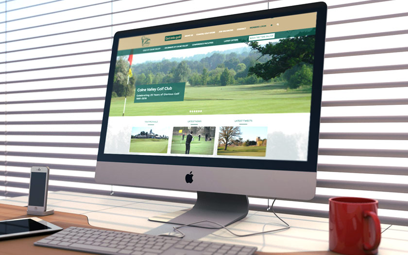 Web Design, Sudbury, Suffolk - Colne Valley Golf Club