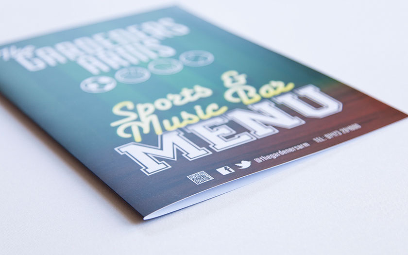 Menu Printing, Sudbury, Suffolk, Essex