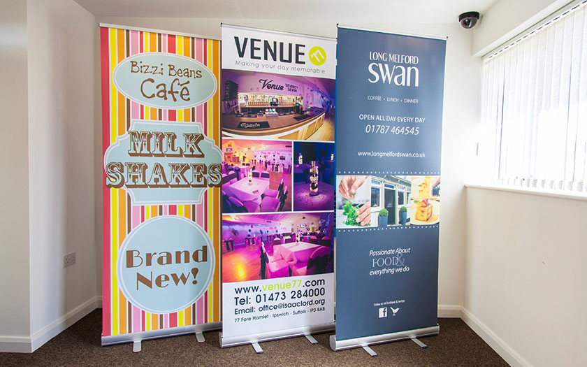 Pull Up Banners, Sudbury, Suffolk, Bury St Edmunds. Ipswich