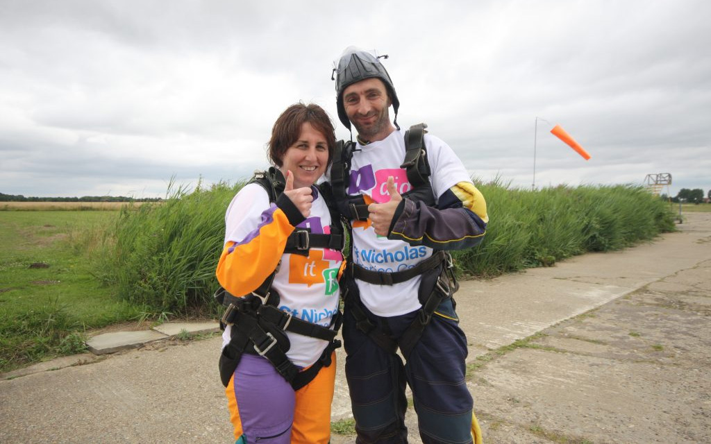 Melissa Frost, Indigo Ross - Charity Sky Dive