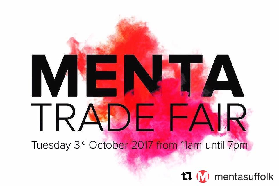 Why not come and see us on Tuesday 3rd October at MENTA Trade Fair at The Apex, Bury St Edmunds.