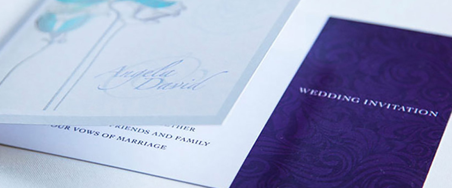 Invite Printing, Wedding Invites, Sudbury, Suffolk - Indigo Ross Design and Print