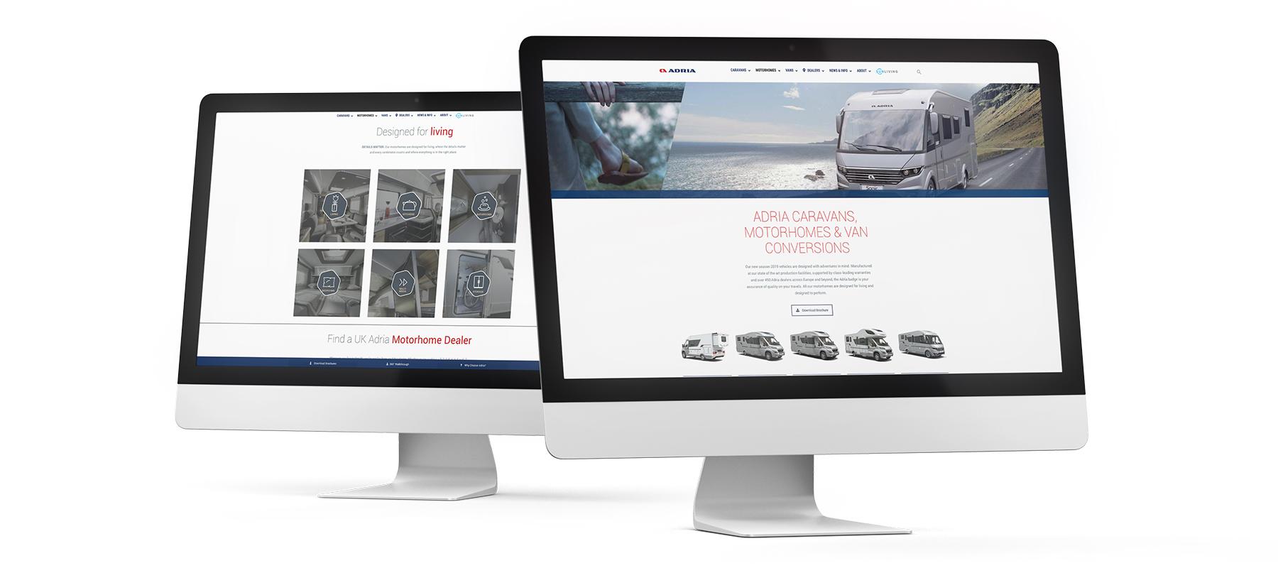 Adria Website - Web Design, Sudbury, Suffolk - Indigo Ross