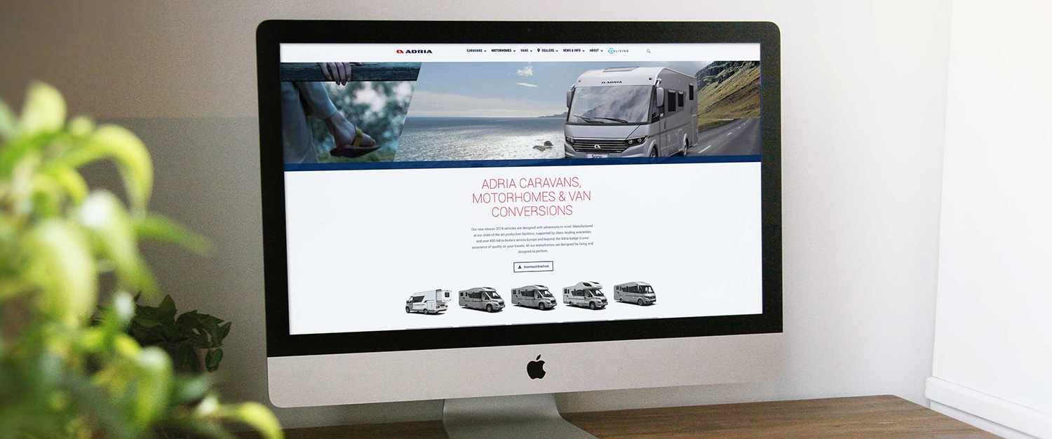 Adria Website - Web Design, Sudbury, Suffolk - Indigo Ross