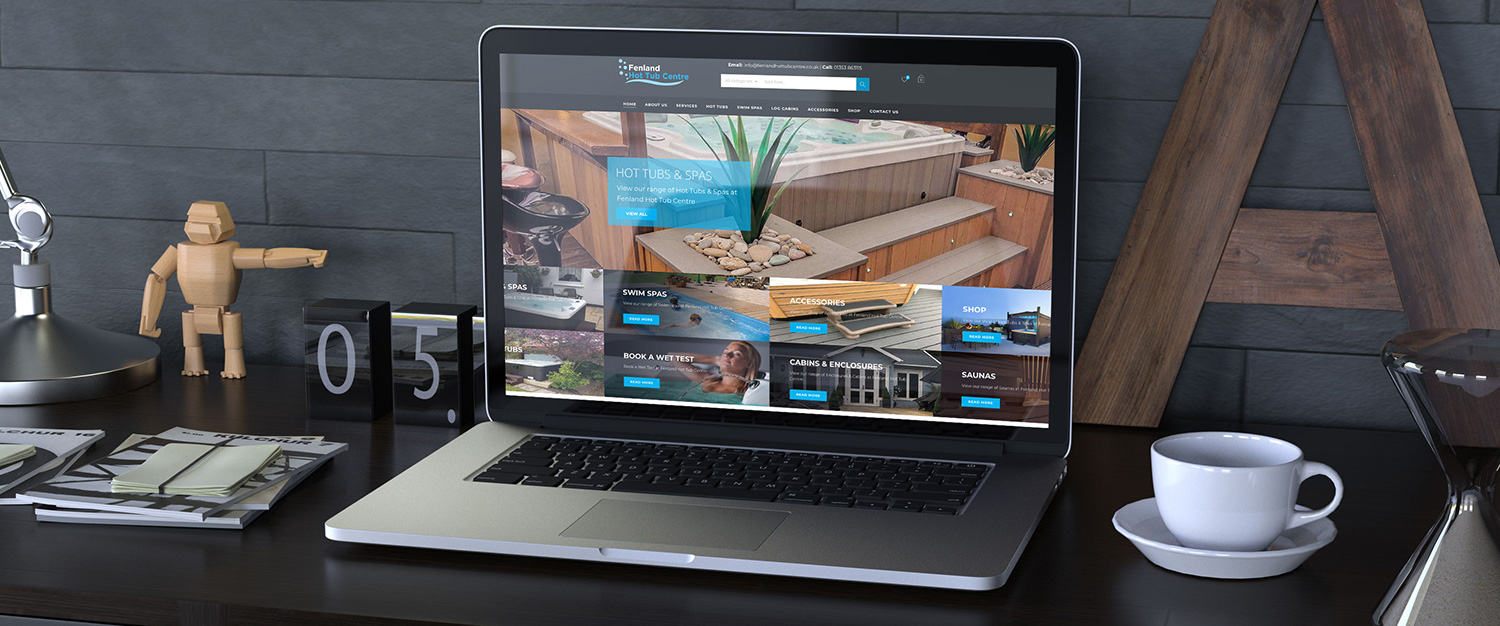 Fenland Hot Tub Centre, Web Design, Cambrigde - Indigo Ross Design and Print