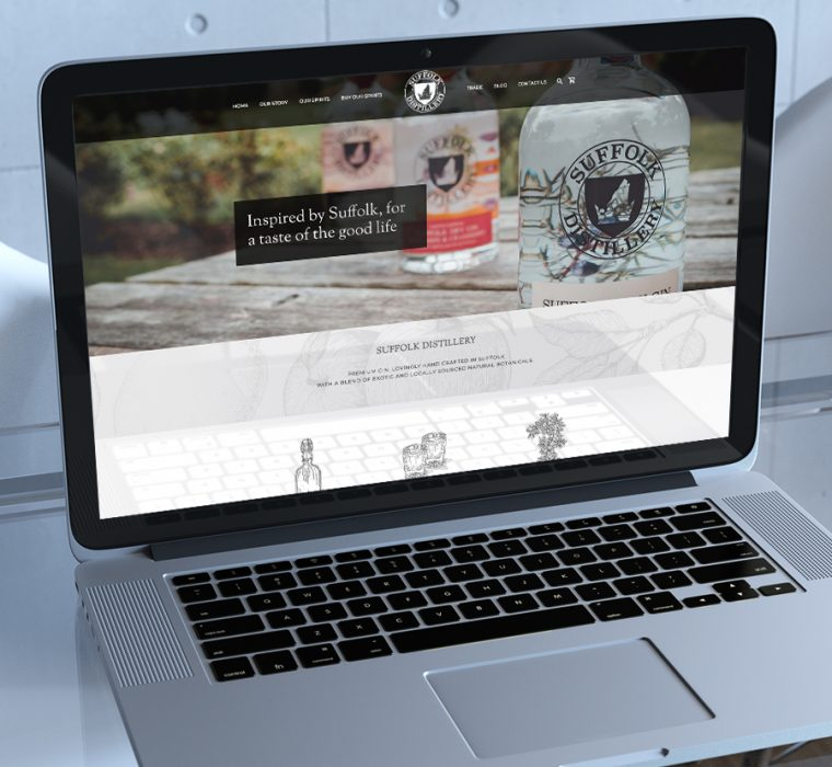 Suffolk Distillery - Web Design, Sudbury, Suffolk - Indigo Ross Design and Print