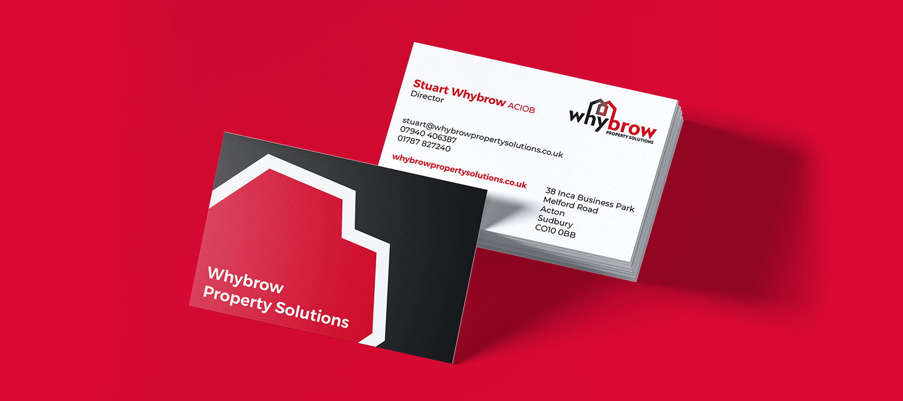 Whybrow Property Solutions, Business Cards, Indigoross, Sudbury, Suffolk