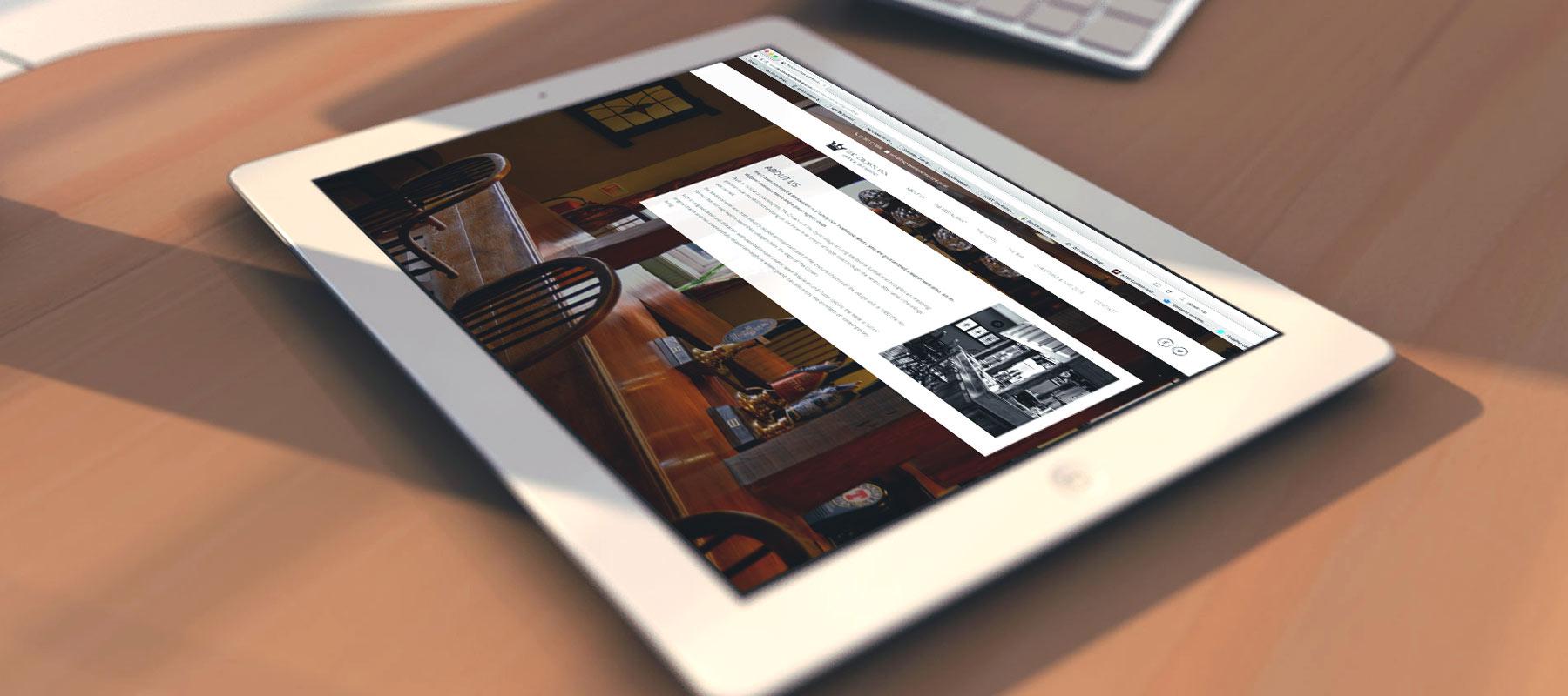 The Crown Inn Hotel, Web Design, Long Melford, Suffolk