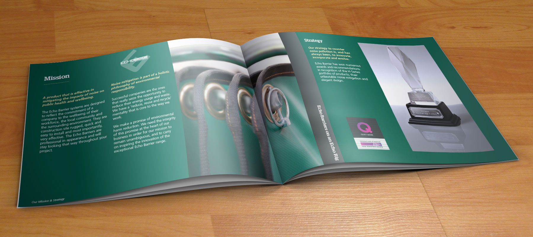 Echo Barrier, Litho Printed Brochures, Sudbury, Suffolk