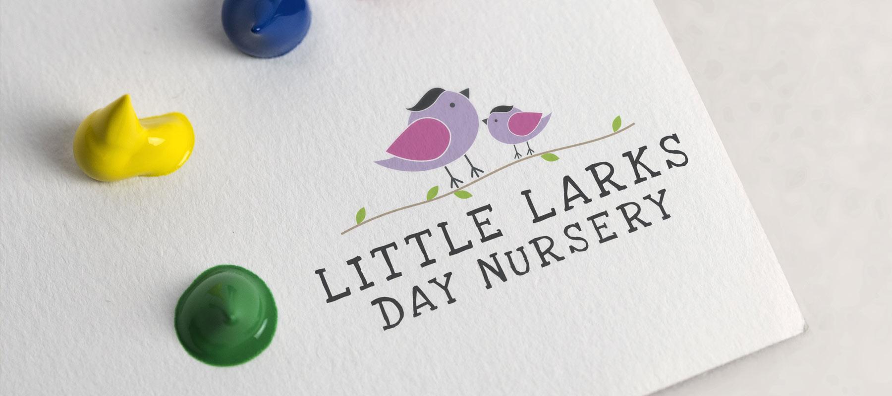 Little Larks Day Nursery - Logo Design - Sudbury, Suffolk, Bury St Edmunds