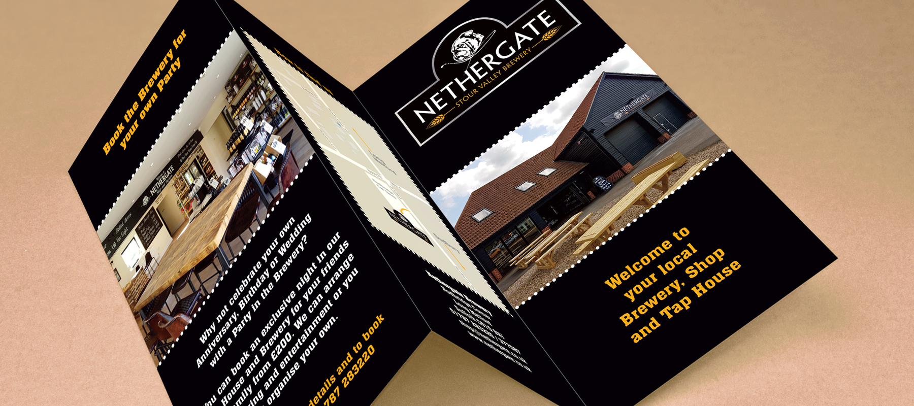 Nethergate Brewery and Shop - Brochure - Leaflet - Leaflet Design - A4 to DL Leaflet - Brochure Design - Sudbury - Suffolk