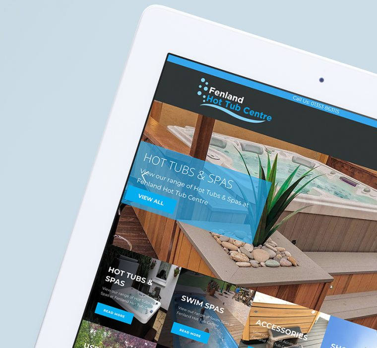 Fenland Hot Tub Centre - Web Design - Website Design - Website - Sudbury - Suffolk
