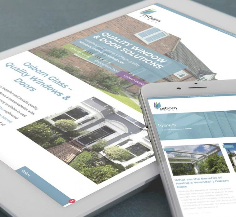 Osborn Glass - iPad - iPhone - Website Design - Web Design - Responsive Website - Sudbury - Suffolk