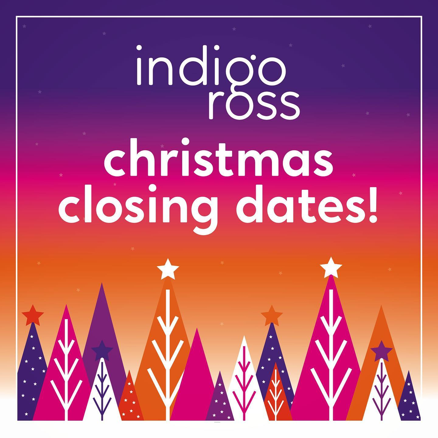 Christmas Closing Dates 2020