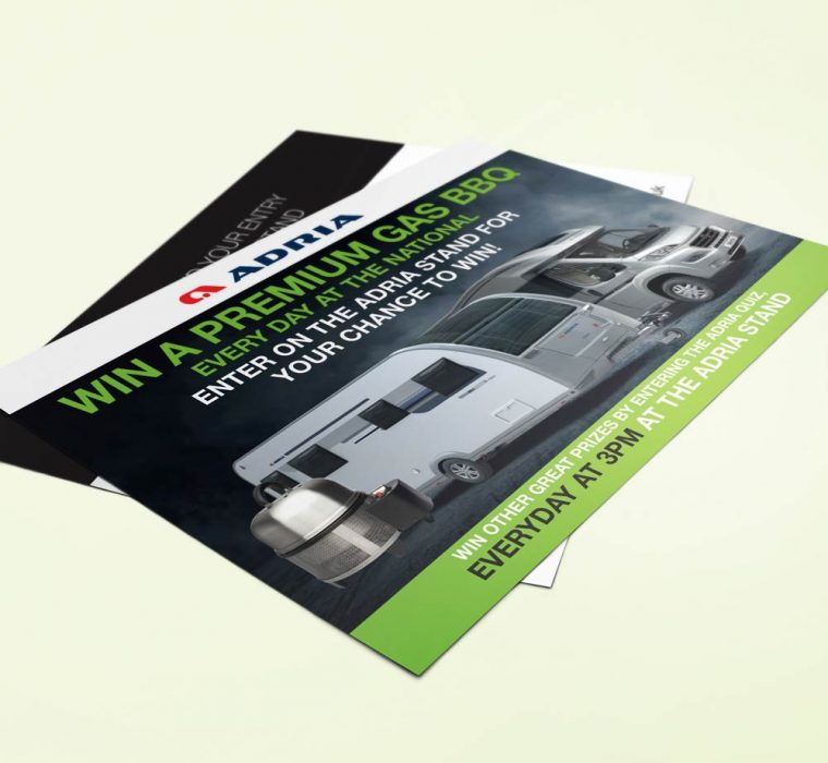 Adria - Competition Offer Leaflet Design and Print