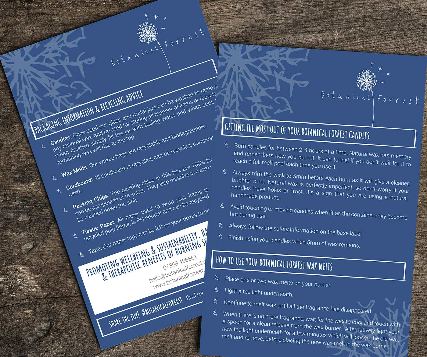 Leaflet Printing, Sudbury, Suffolk - Botanical Forrest