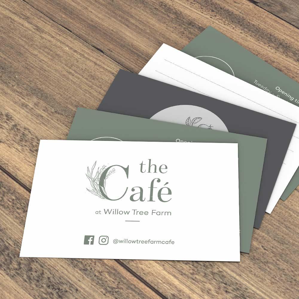 Willow Tree Farm Shop Business Cards, Printing, Sudbury, Suffolk